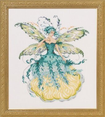 March Aquamarine Fairy - Cross Stitch Pattern