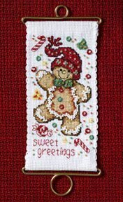 Sweet Greetings Gingerbread - Beaded Cross Stitch Kit
