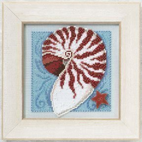 Nautilus Shell - Beaded Cross Stitch Kit