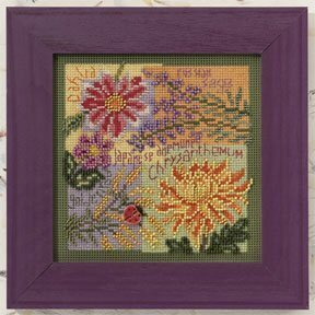 Fall Blooms - Beaded Cross Stitch Kit
