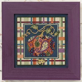 Paisley Pumpkin - Beaded Cross Stitch Kit