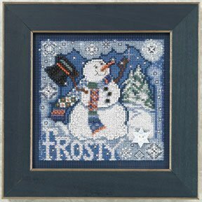 Frosty Snowman - Beaded Cross Stitch Kit