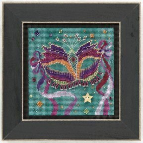 Purple Mask - Beaded Cross Stitch Kit
