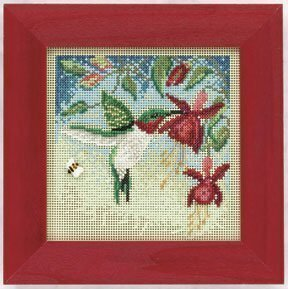 Hummingbird - Beaded Cross Stitch Kit