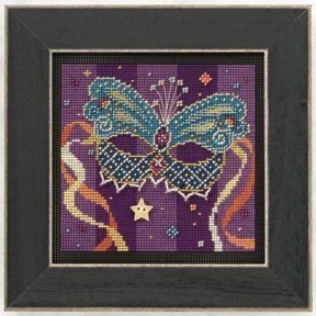 Teal Mask - Beaded Cross Stitch Kit