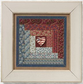 Log Cabin Quilt - Beaded Cross Stitch Kit