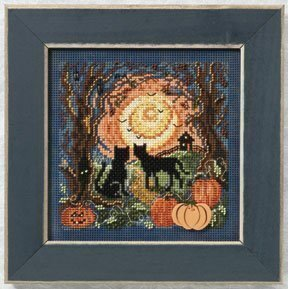 Moonlight Kitties - Beaded Cross Stitch Kit