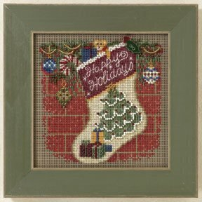 Holiday Stocking - Beaded Cross Stitch Kit