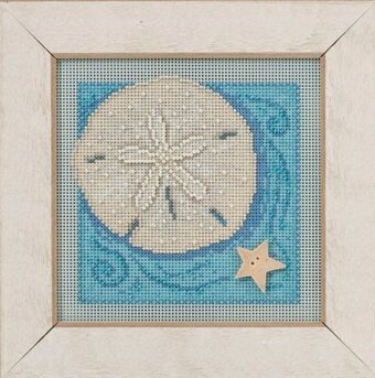 Sand Dollar - Beaded Cross Stitch Kit