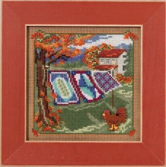 Country Quilts - Beaded Cross Stitch Kit