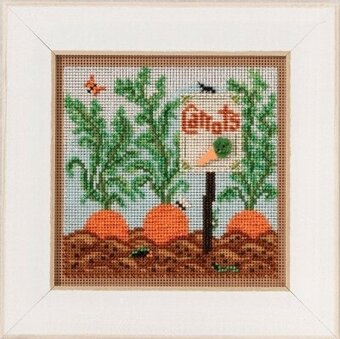 Carrot Garden- Beaded Cross Stitch Kit