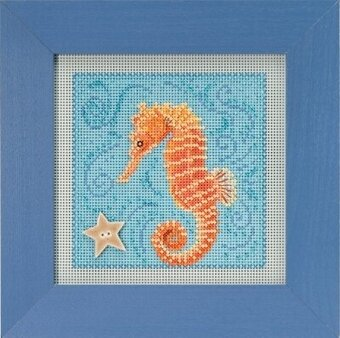 Seahorse - Beaded Cross Stitch Kit