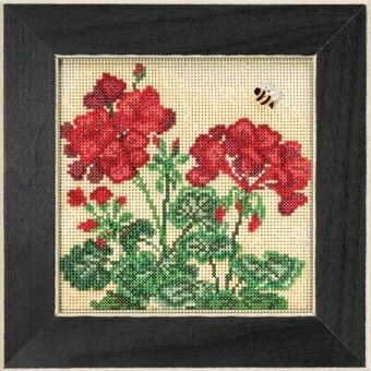 Geranium - Beaded Cross Stitch Kit