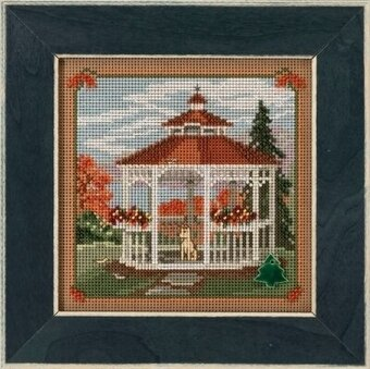 Gazebo Country Lane - Beaded Cross Stitch Kit