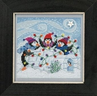 Playful Penguins - Beaded Cross Stitch Kit