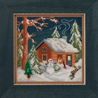 Christmas Cabin - Beaded Cross Stitch Kit