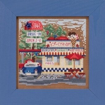 Drive-In - Beaded Cross Stitch Kit