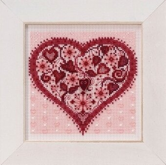 Valentine Heart - Beaded Cross Stitch Kit