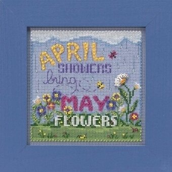 April Showers - Beaded Cross Stitch Kit