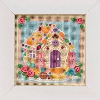 Sugar Cookie House - Beaded Cross Stitch Kit