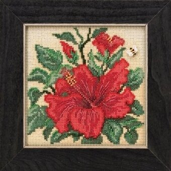 Hibiscus - Beaded Cross Stitch Kit