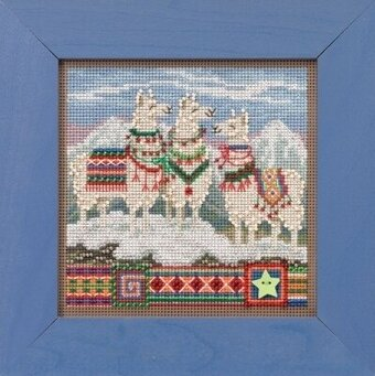 Fa La La Llamas - Beaded Cross Stitch Kit
