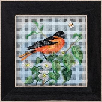 Baltimore Oriole - Beaded Cross Stitch Kit