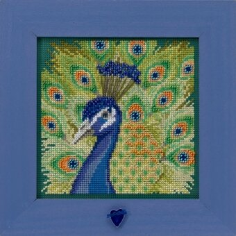 Proud Peacock - Beaded Cross Stitch Kit