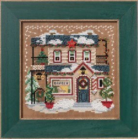 Barber Shoppe - Beaded Cross Stitch Kit