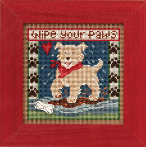 Puppy Paws - Beaded Cross Stitch Kit