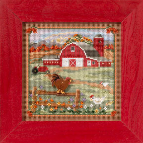 Country Morning - Beaded Cross Stitch Kit