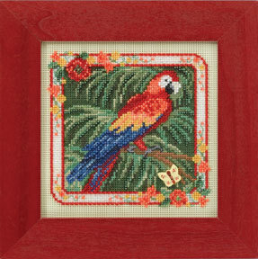 Parrot - Beaded Cross Stitch Kit