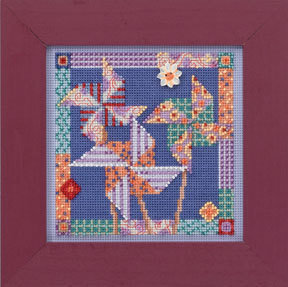Pinwheels - Beaded Cross Stitch Kit