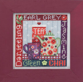 Tea Time - Beaded Cross Stitch Kit