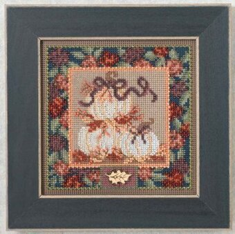 White Pumpkins - Beaded Cross Stitch Kit