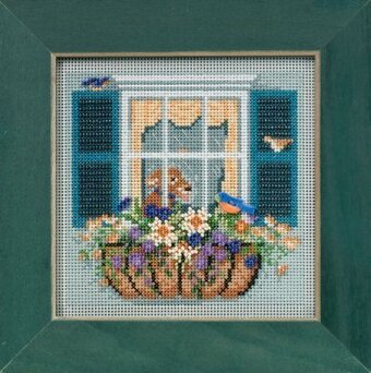 Window Box - Beaded Cross Stitch Kit