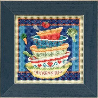 Soup Bowls - Beaded Cross Stitch Kit