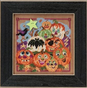 Painted Pumpkins - Beaded Cross Stitch Kit