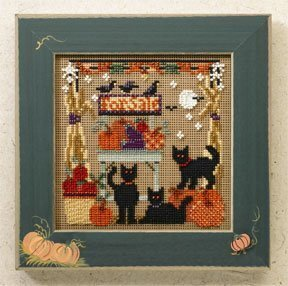 Bountiful Kitties - Beaded Cross Stitch Kit