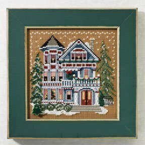Queen Anne House - Beaded Cross Stitch Kit