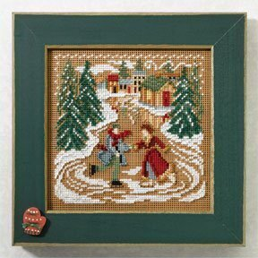 Skating Pond - Beaded Cross Stitch Kit