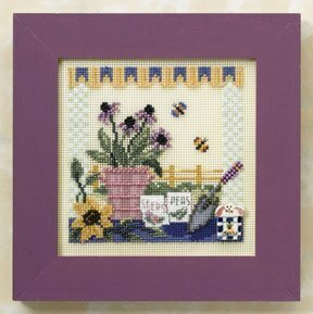 Potting Table - Beaded Cross Stitch Kit