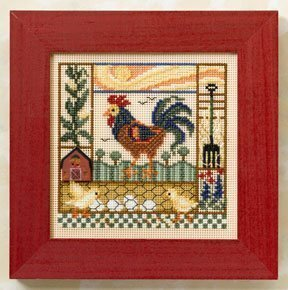 Barnyard Morning - Beaded Cross Stitch Kit