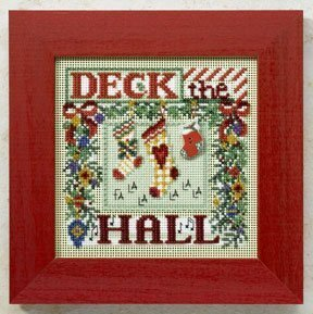 Deck the Hall - Beaded Cross Stitch Kit