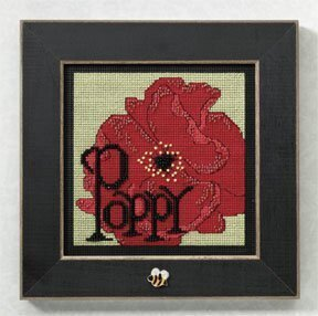 Poppy - Beaded Cross Stitch Kit