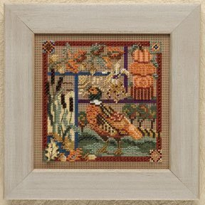 Pheasant Sampler - Beaded Cross Stitch Kit