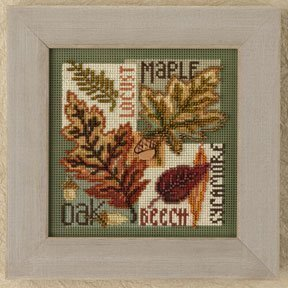 Fall Leaves - Beaded Cross Stitch Kit