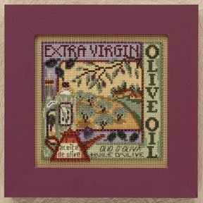 Olive Oil - Beaded Cross Stitch Kit