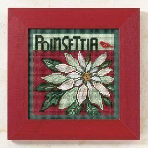 Poinsettia - Beaded Cross Stitch Kit