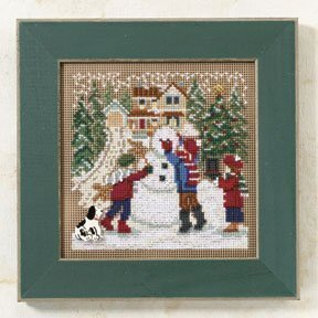 Snow Day - Beaded Cross Stitch Kit